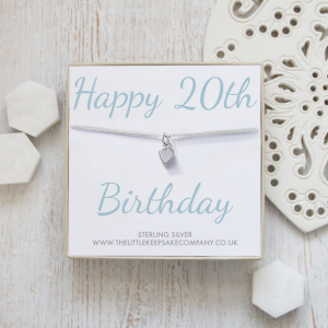 Sterling Silver Quote Bracelet - 'Happy 20th Birthday'