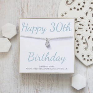 Sterling Silver Quote Bracelet - 'Happy 30th Birthday'