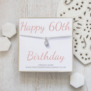 Sterling Silver Quote Bracelet - 'Happy 60th Birthday'