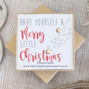 Rose Gold Vermeil Christmas Earrings - 'Have Yourself A Merry Little Christmas'