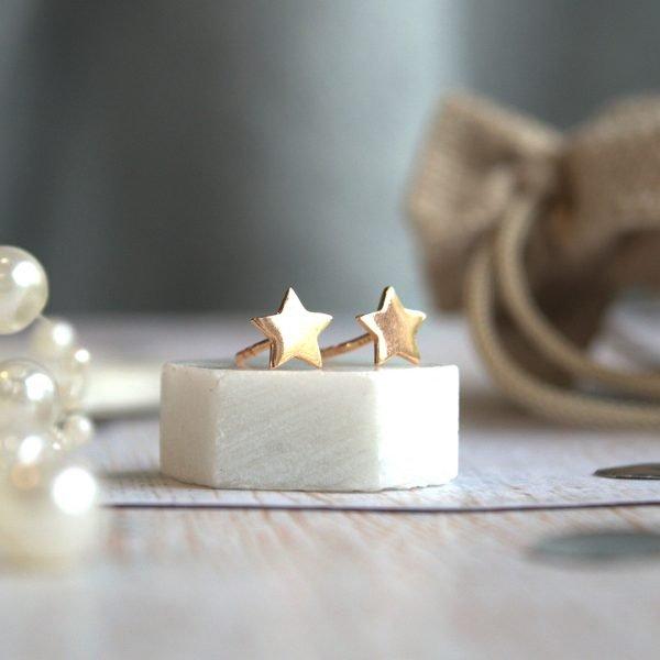Rose Gold Star Earrings TLKC