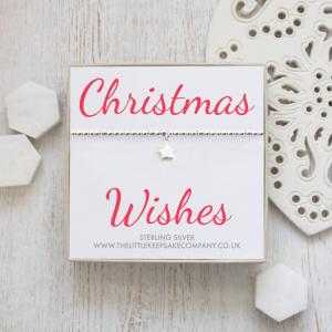 Sterling Silver Star Slider Bracelet - 'Christmas Wishes'
