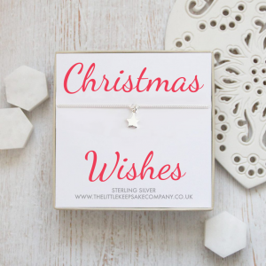 Sterling Silver Star Quote Bracelet – 'Christmas Wishes'