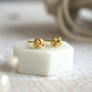 Yellow Gold Vermeil Knot Earrings